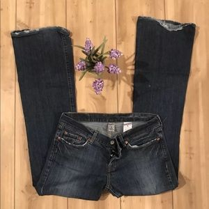 Lucky Brand Jeans SZ 10/30 LIL MAGGIE Flare X25
